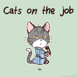 Cat on the job
