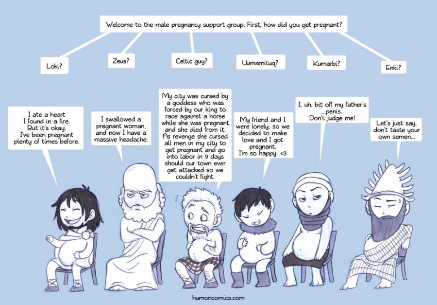 Gregnant Gods HumonComics.com
