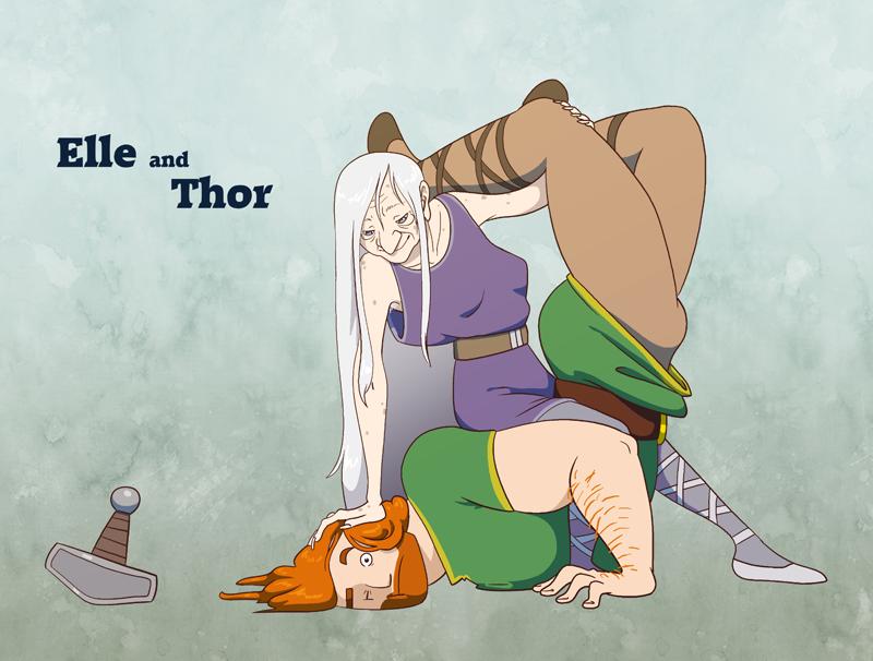 Elle and Thor HumonComics.com
