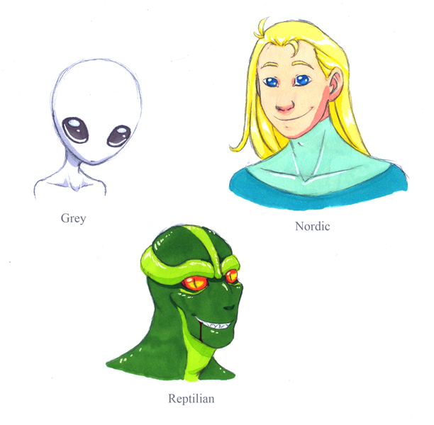 Greys Nordics Reptilians HumonComics.com