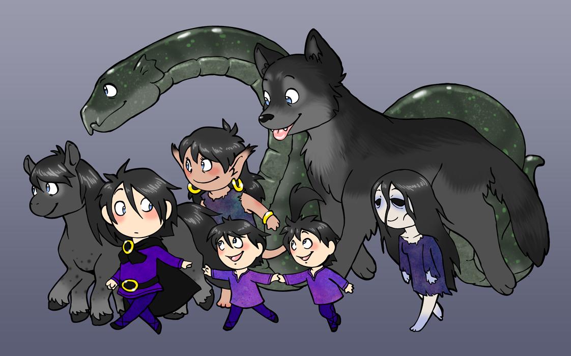 Loki and His Children - Humon Comics Lokis Children Norse Mythology