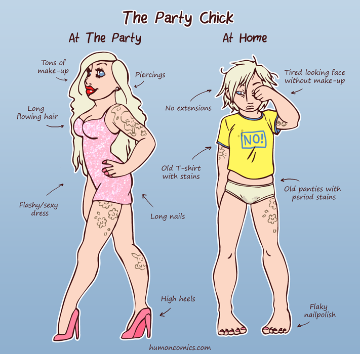 Party Chick HumonComics.com