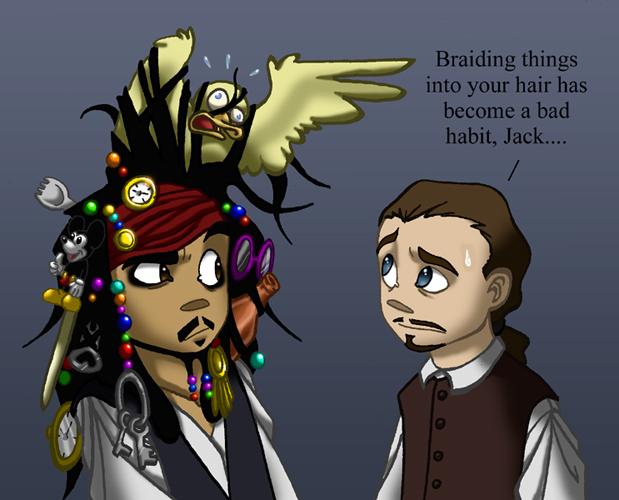 PotC: Jack's Hair HumonComics.com