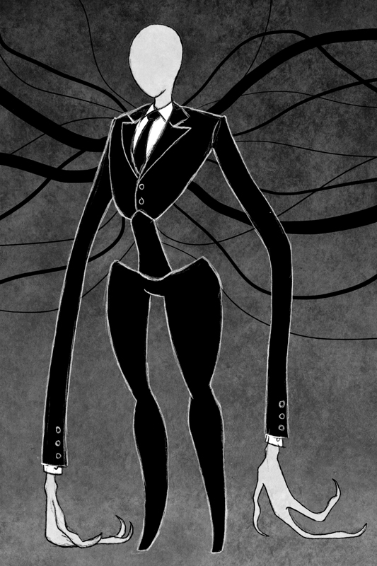 Scary Slenderman Drawing Slender Man Humoncomics.com