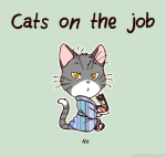 Cat on the job