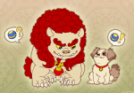 Two Lion Dogs