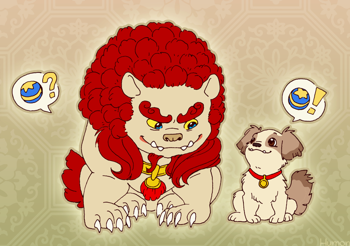 Two Lion Dogs HumonComics.com