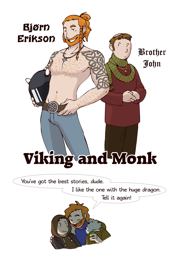 Viking and Monk HumonComics.com