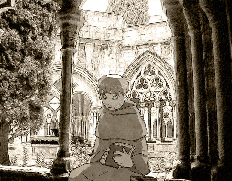 Worried Monk HumonComics.com