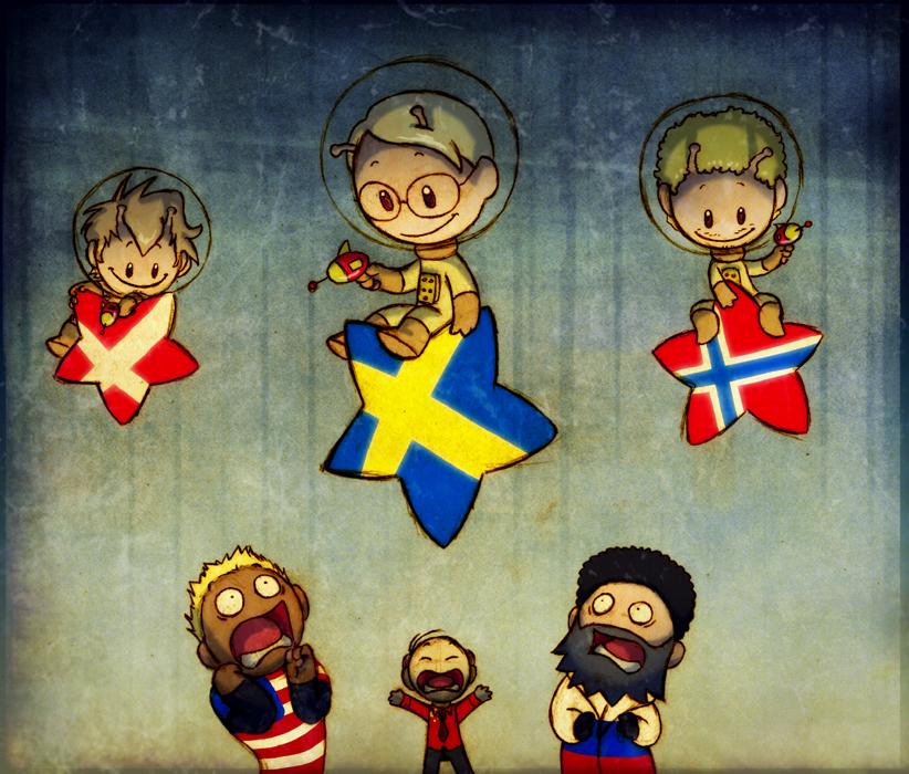комиксы про Скандинавские страны